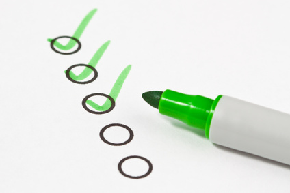 Checkliste zum Anschreiben mit Stift