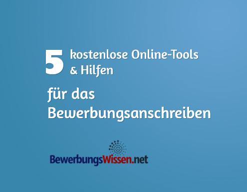 5 Kostenlose Online Tools Hilfen Bewerbungsanschreiben