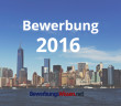 Bewerbung 2016 vor der Skyline von New York